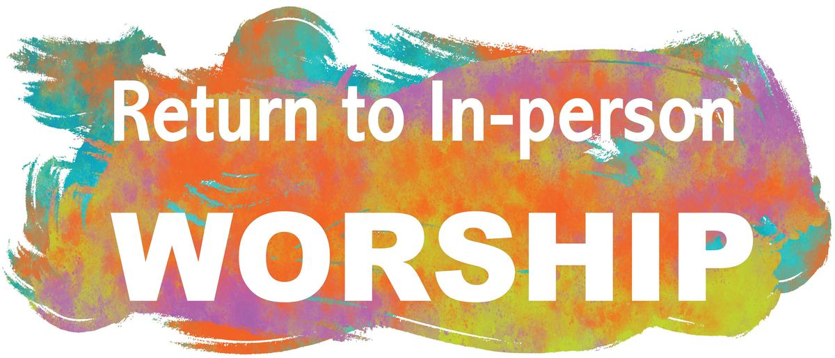 in person worship graphic